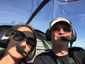 Judy's first flight in the RV9A